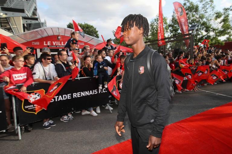 Eduardo Camavinga, jeune milieu de terrain du Stade Rennais
