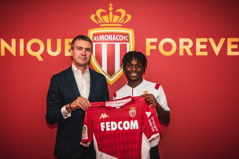 Arthur Zagre, lors de sa signature à l'AS Monaco en provenance du PSG