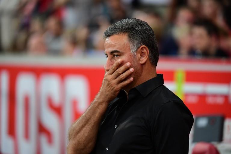 Christophe Galtier semble dubitatif sur les performances de son équipe
