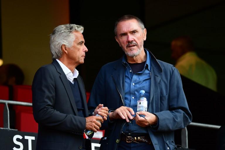 Le président de l'OGC Nice Jean-Pierre Rivère et Robert Ratcliffe, patron du Conseil de Surveillance.