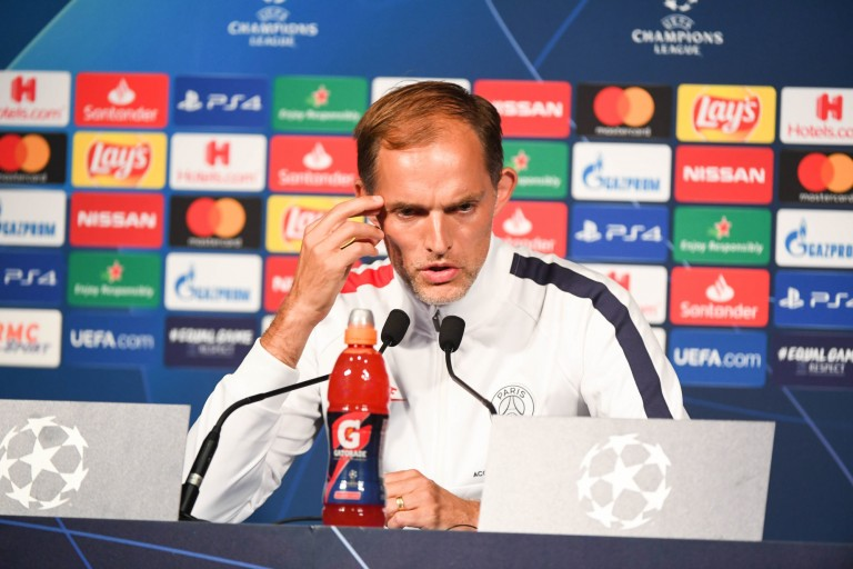 Thomas Tuchel, entraineur du PSG, en conférence de presse.