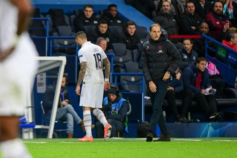 Mauro Icardi s'est blessé au pied gauche mercredi soir contre le FC Bruges.