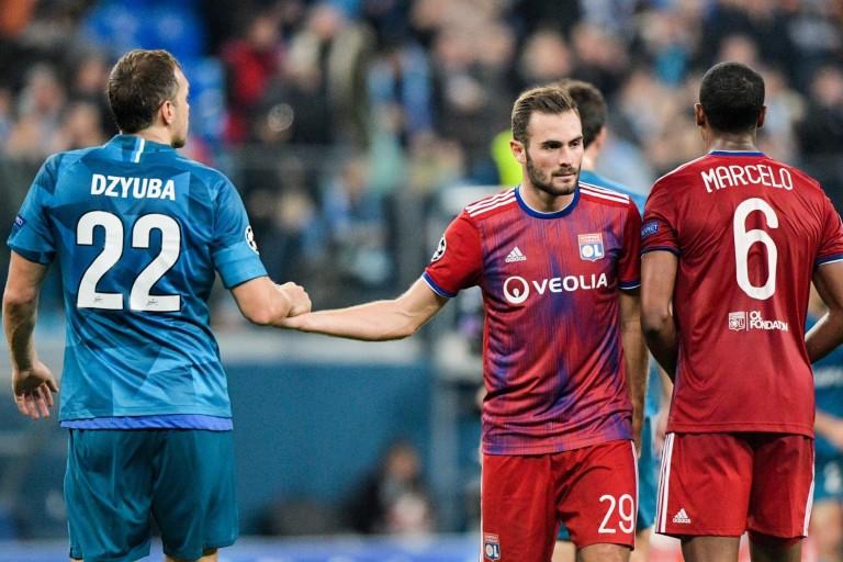 Lucas Tousart et Marcelo (OL) se sont inclinés face à Artyom Dziouba, buteur du zénith.