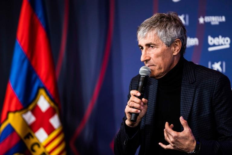 Entraineur du FC Barcelone, Quique Setién a évoqué le cas Lionel Messi en conférence de presse