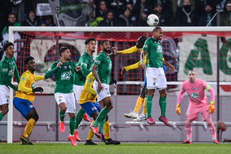 L' ASSE contre l'Epinal en coupe de France.