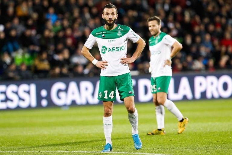 Franck Honorat, attaquant de l' ASSE.