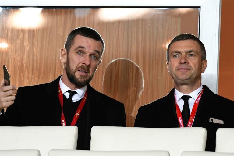 Nicolas Holveck (à gauche), nouveau président du Stade Rennais