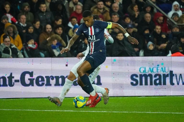 Presnel Kimpembe, capitaine du PSG contre Lyon (4-2).