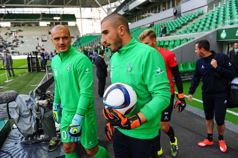 Jessy Moulin et Stéphane Ruffier, deux gardien de but de l'ASSE.