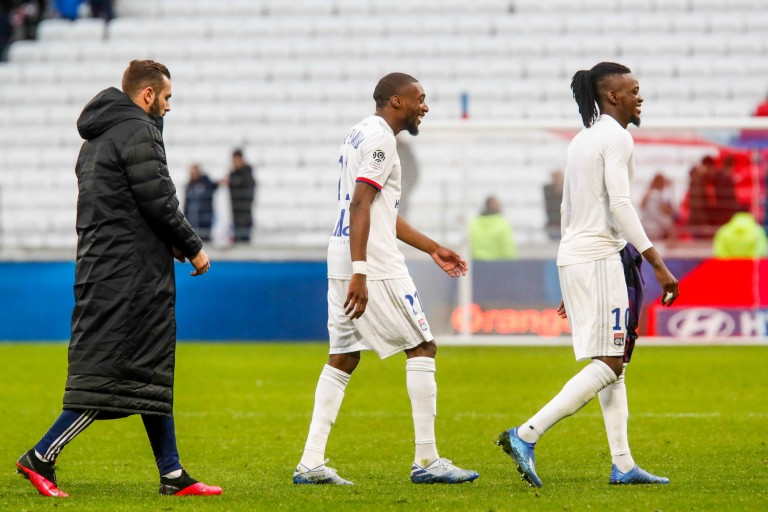 Lucas Tousart, Toko-Ekambi et Bertrand Traoré de l' OL.