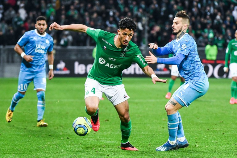 William Saliba, défenseur de l' ASSE.