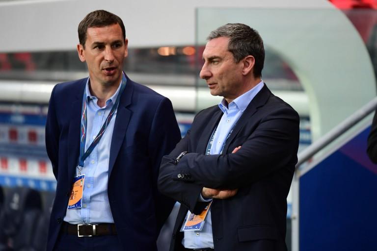 David Terrier (à gauche) et l'UNFP ont demandé l'arrêt de la Ligue 1