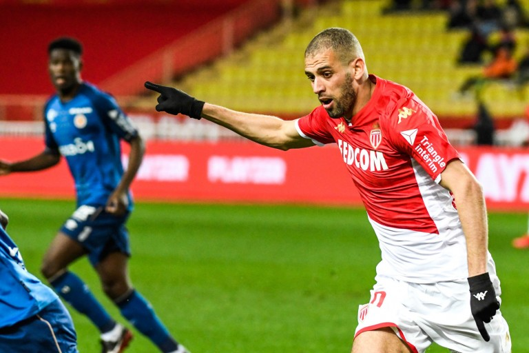 Islam Slimani, buteur de l'AS Monaco