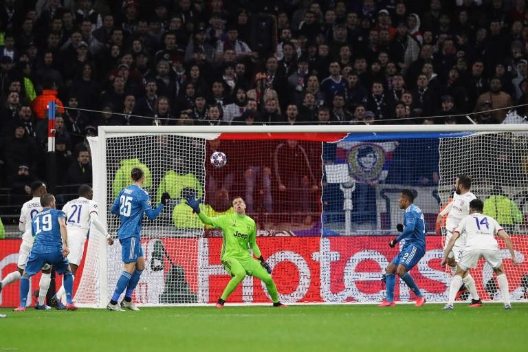 L'OL face à la Juventus, à Lyon, lors du match aller remporté (1-0)