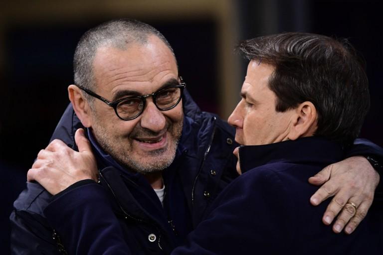 Maurizio Sarri (Juventus) et Rudi Garcia (coach de l'OL)