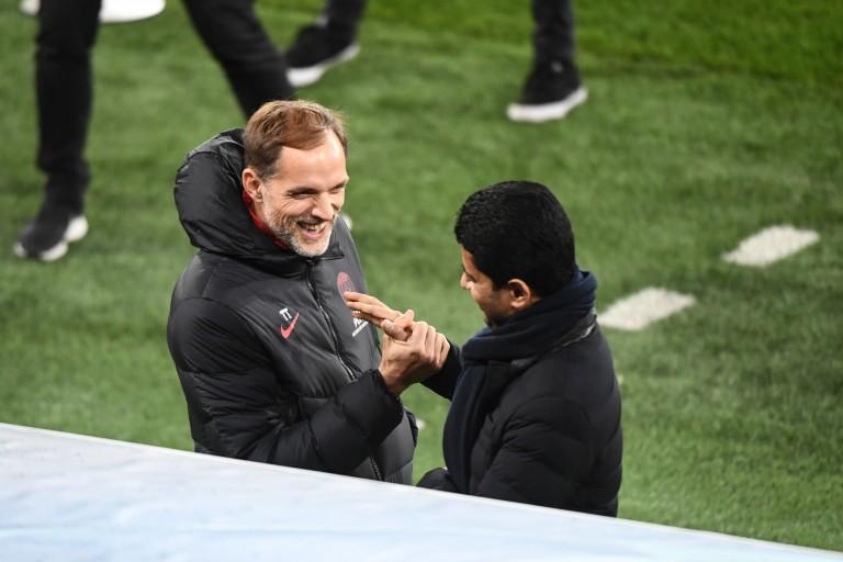 Thomas Tuchel et Nasser Al-Khelaïfi, coach et président du PSG