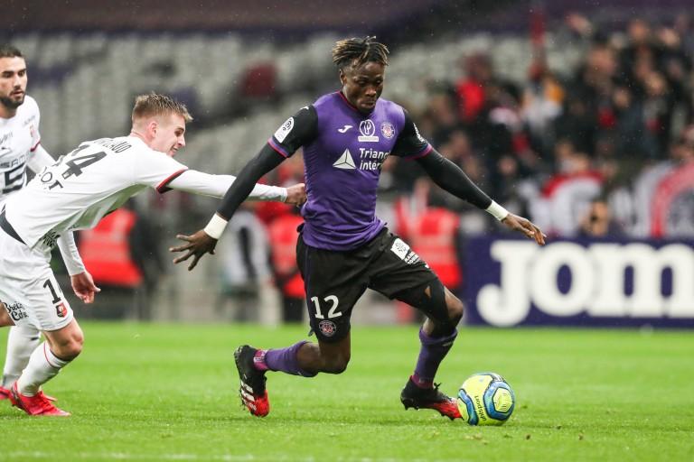 Issiaga Sylla, défenseur du Toulouse FC, prêté au RC Lens