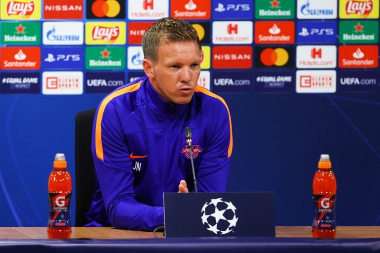 Julian Nagelsmann, coach du RB Leipzig, défie le PSG.