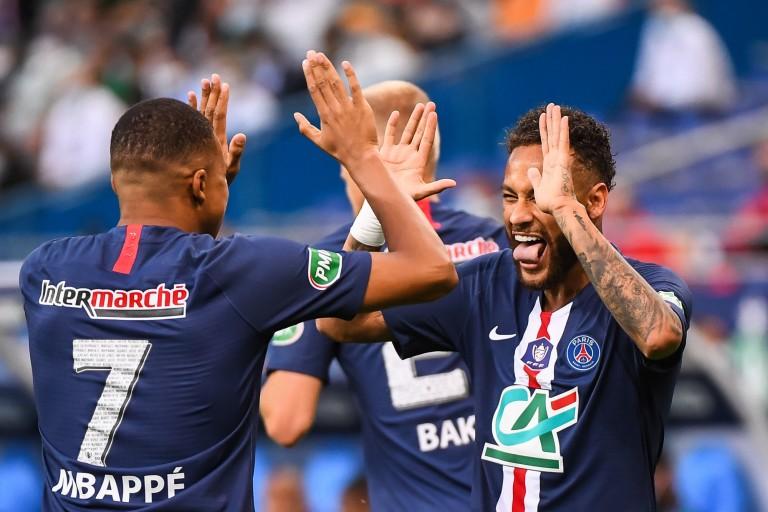 Le PSG représenté par Mbappé, Neymar et Navas
