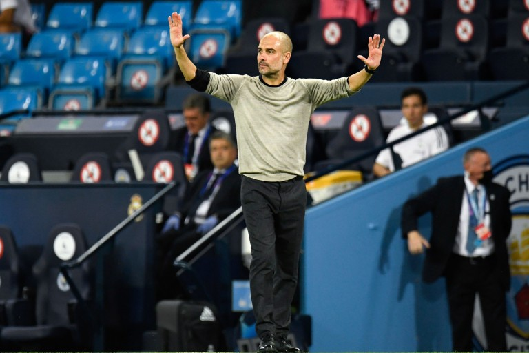 Pep Guardiola, coach de City, sort l'artillerie lourde contre l'OL