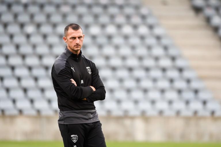 Jérôme Arpinon, l'entraîneur du Nîmes Olympique