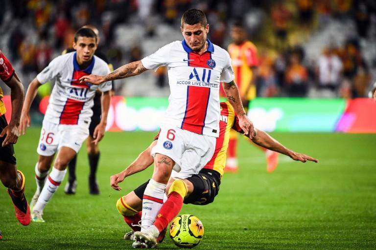 PSG Mercato : Marco Verratti lors du match contre le RC Lens