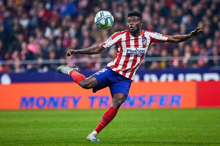 Thomas Partey, milieu défensif de l'Atlético Madrid visé par le PSG