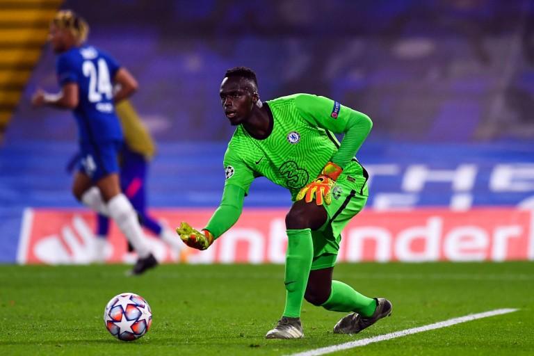 Édouard Mendy sous le maillot de Chelsea
