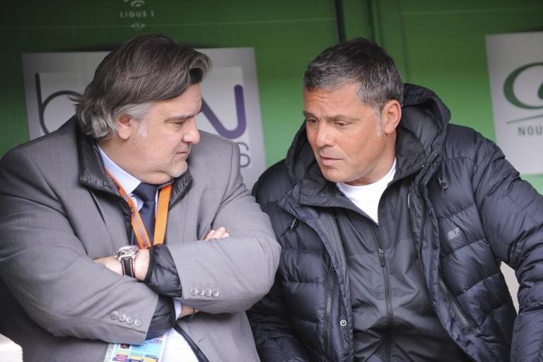 L'ancien gardien de Montpellier, Bruno Martini, ici avec Laurent Nicollin, est décédé.