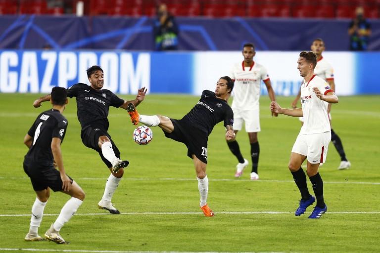Match compliqué pour les milieux du Stade Rennais face au Séville FC.
