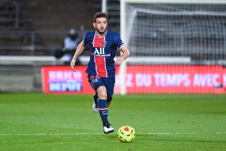 Alessandro Florenzi, défenseur droit prêté au PSG par l'AS Rome.