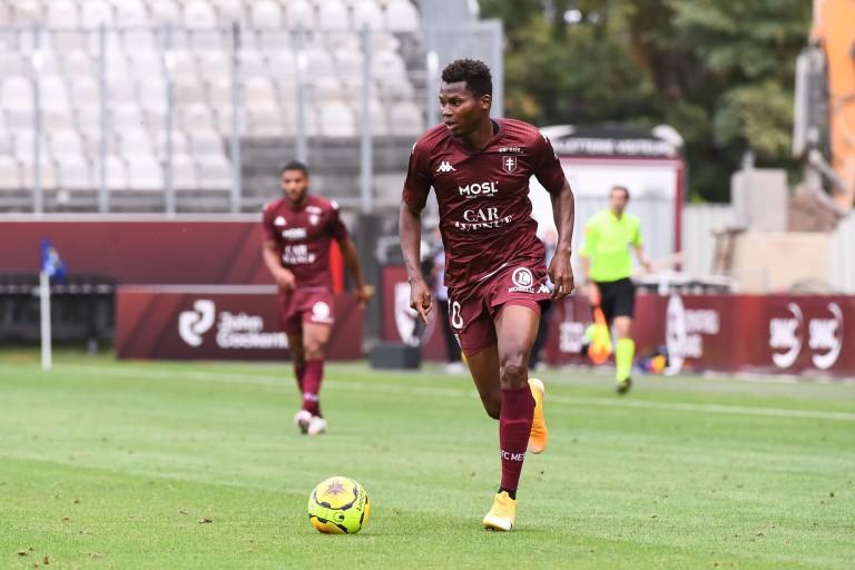 Habib Diallo, nouvelle recrue du RC Strasbourg, en provenance du FC Metz