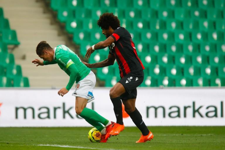 Pour Romain Hamouma, la poussette de Dante méritait penalty lors du match ASSE - OGC Nice.