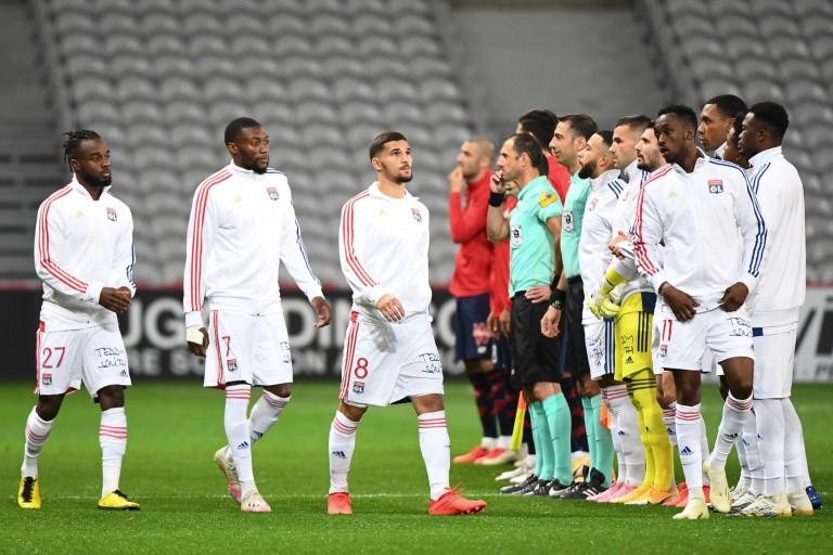 L'OL avec Houssem Aouar contre le SCO Angers
