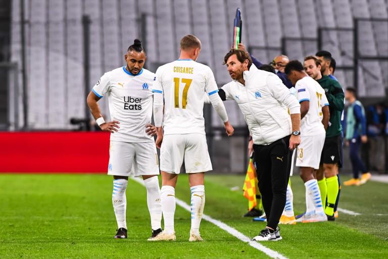 André Villas-Boas (coach de l' OM) et son équipe inquiètent.