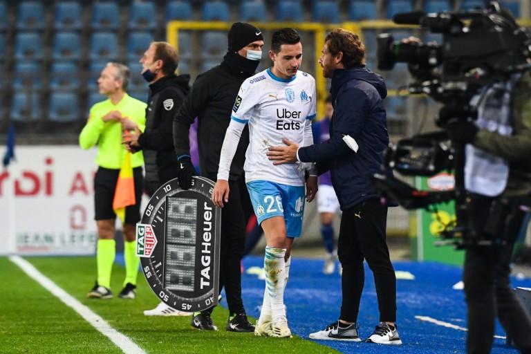 Florian Thauvin et le coach de l'OM, André Villas-Boas .