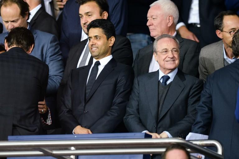 Nasser Al-Khelaïfi (PSG) et Florentino Pérez du Real Madrid.