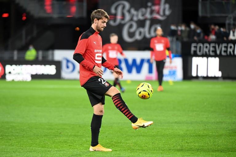 Le Stade rennais avec Daniele Rugani contre Lille