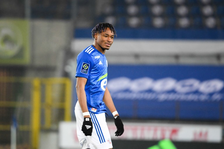 Mohamed Simakan, défenseur central du Rc Strasbourg.