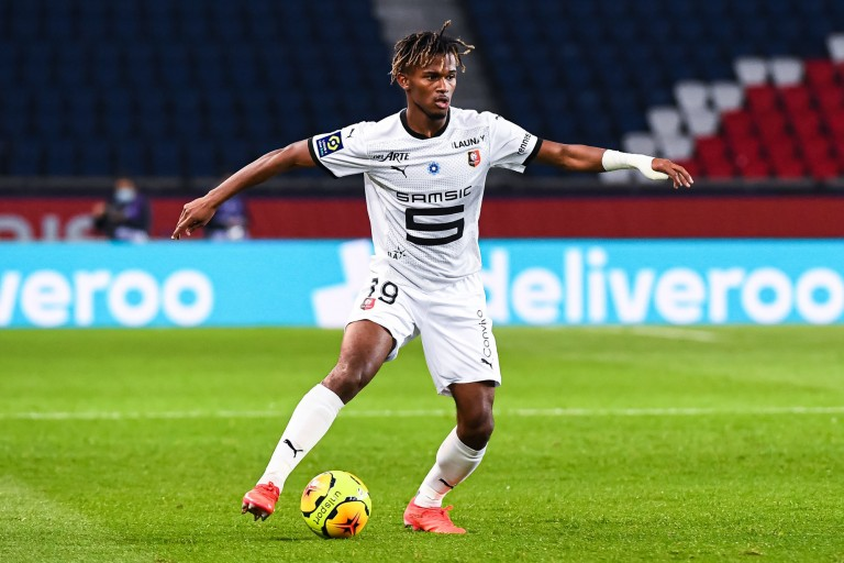 Yann Gboho, ailier gauche du Stade Rennais.