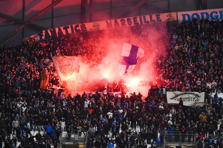 Les supporters de l'OM ont allumé des fumigène au Vélodrome contre Strasbourg en janvier 2020.