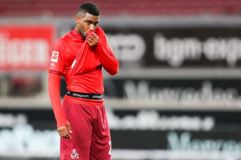 Anthony Modeste, attaquant prêté à l'ASSE par le FC Cologne.