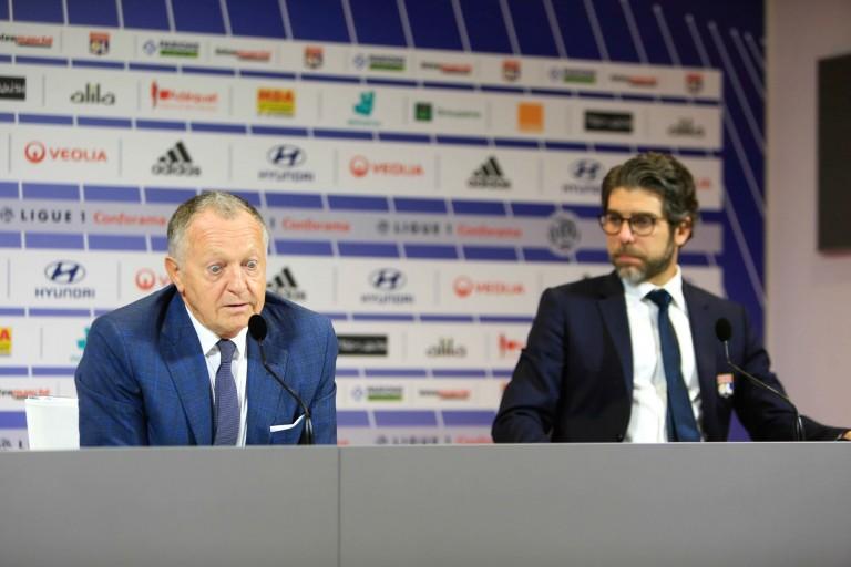 Jena-Michel Aulas, président de l'OL, et Juninho, directeur sportif.