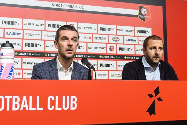 Nicolas Holveck, président exécutif du Stade Rennais et Florian Maurice, directeur technique.