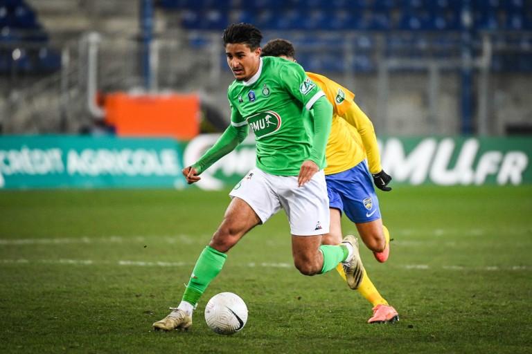 Aïmen Moueffek, jeune défenseur de l'ASSE.