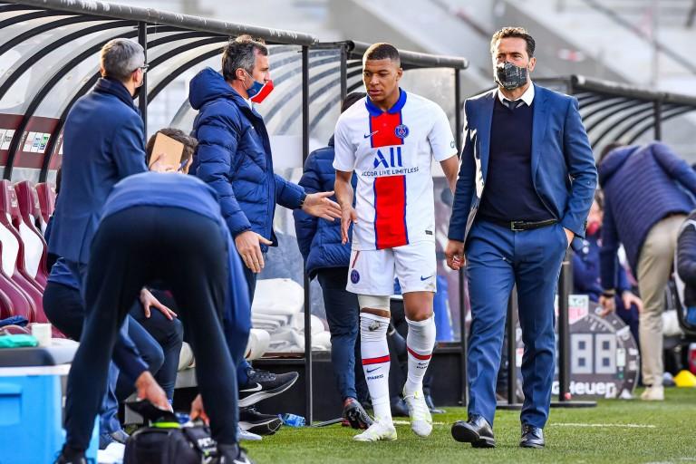 Kylian Mbappé touché contre le FC Metz