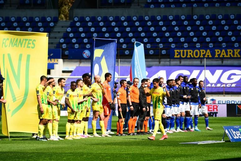 FC Nantes opposé au RC Strasbourg, à la Meinau.