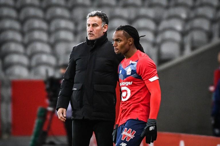 Le LOSC avec Renato Sanches contre Lyon