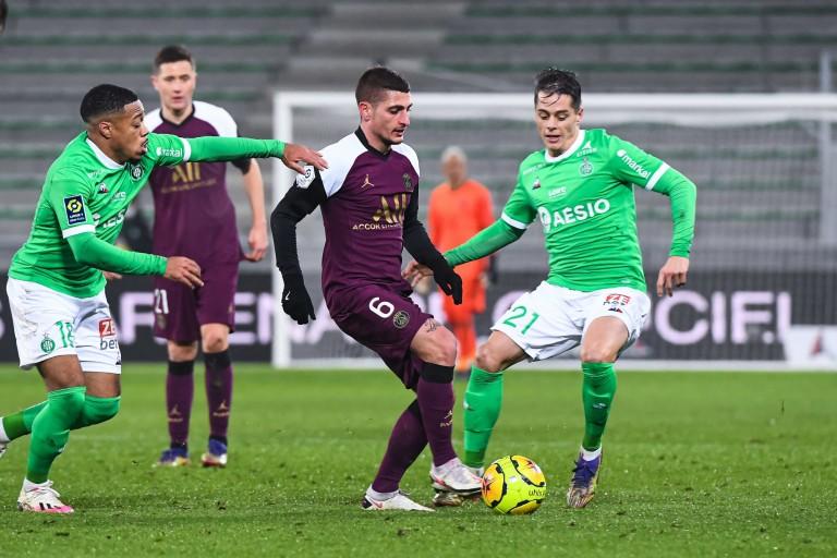 ASSE - PSG, lors du match aller (1-1).