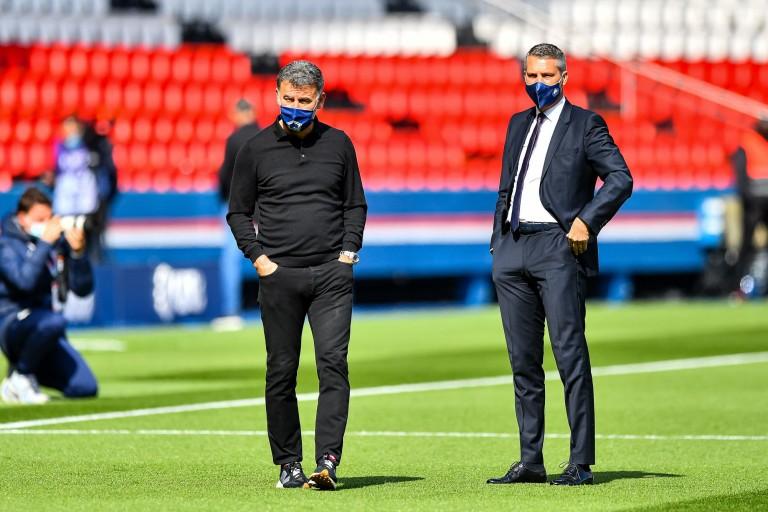 Christophe et Olivier Létang, respectivement coach et président du LOSC